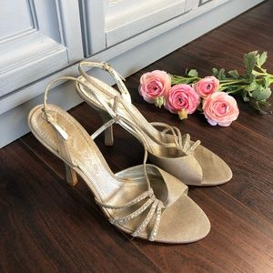 Nina special occasion heeled sandals rhinestones